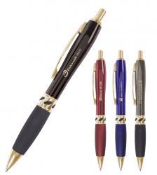 """runder Kugelschreiber """"Burton"""" mit goldfarbenen Elementen Farbe auswählen"""