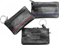 Schlüsseltaschen aus Kalbsleder mit farbigen Streifen & Geldfach  Schlüsseltaschen