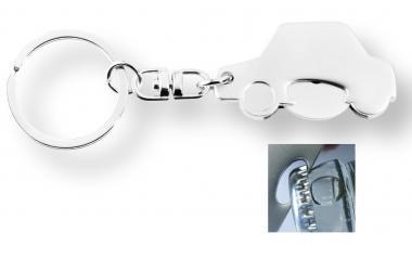 """Schlüsselanhänger """"Auto"""" mit Kapselheber und Einkaufswagenchip"""