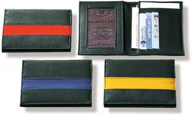Führerscheintaschen aus PU-Material mit farbigen Streifen
