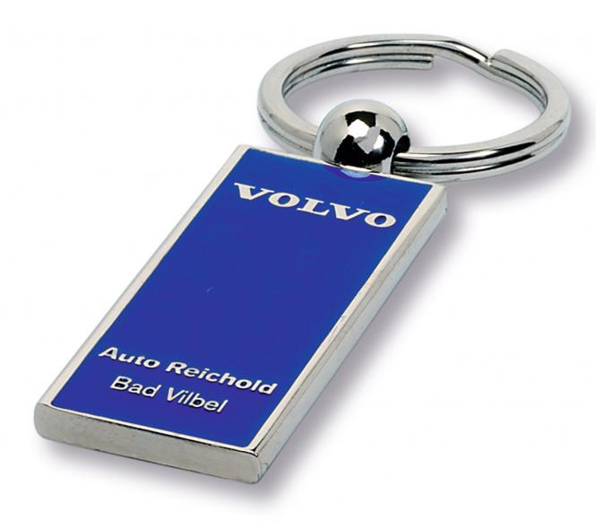 Gegossene Metall-Schlüsselanhänger mit Ihrem Firmenlogo silber/blau Volvo