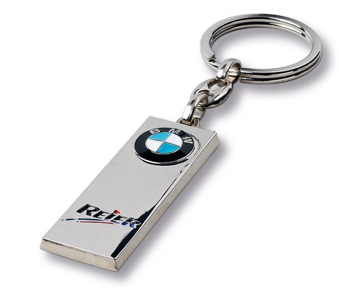 Gegossene Metall-Schlüsselanhänger mit Ihrem Firmenlogo silberglanz BMW