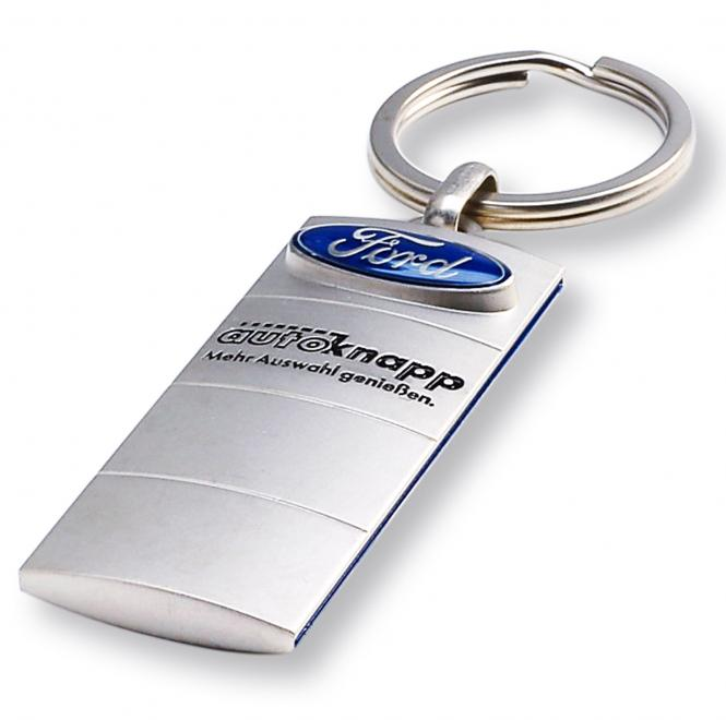 Gegossene Metall-Schlüsselanhänger mit Ihrem Firmenlogo silber/blau Ford