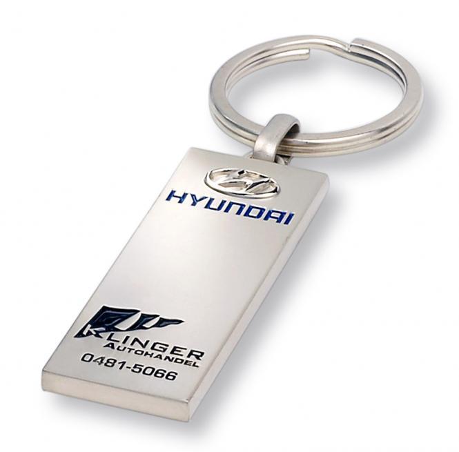 Gegossene Metall-Schlüsselanhänger mit Ihrem Firmenlogo silbermatt Hyundai