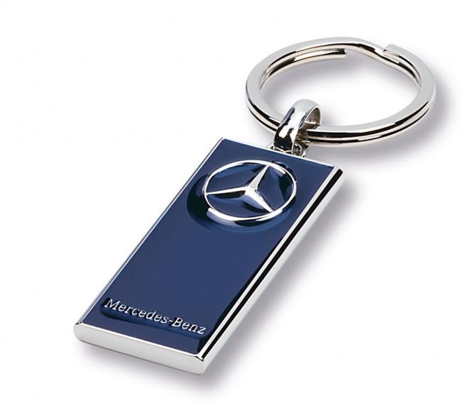Gegossene Metall-Schlüsselanhänger mit Ihrem Firmenlogo silber/blau Merc.