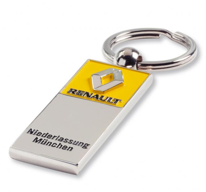 Gegossene Metall-Schlüsselanhänger mit Ihrem Firmenlogo silber/gelb Renault