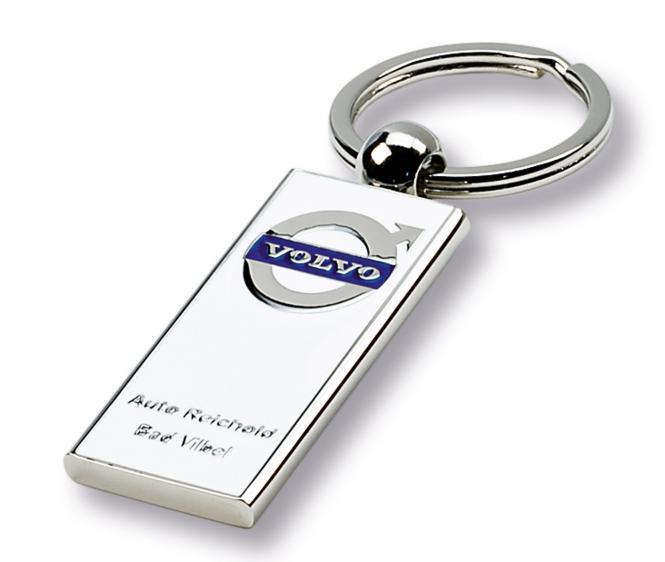 Gegossene Metall-Schlüsselanhänger mit Ihrem Firmenlogo silber/weiß Volvo