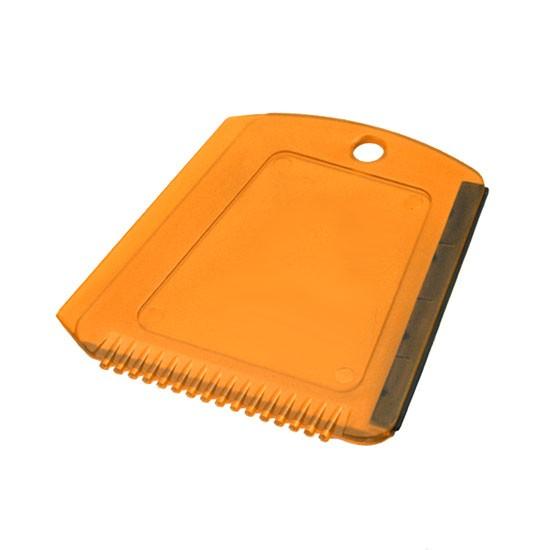 Eiskratzer in Trapezform orange-transparent