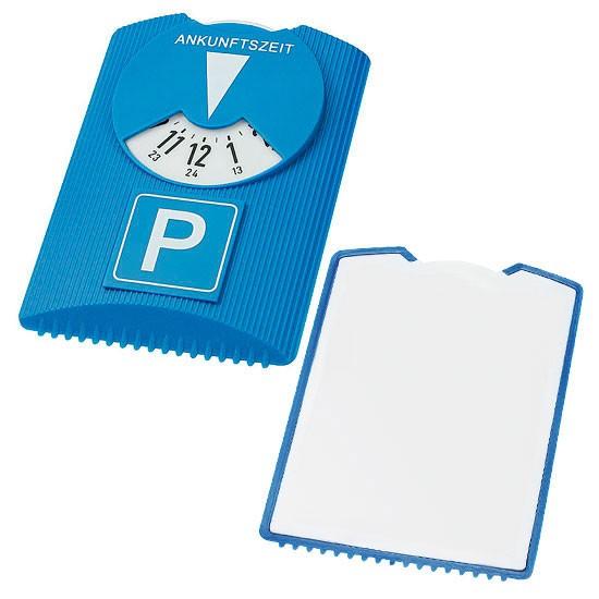 Designer Parkscheibe und Eiskratzer blau/weiß