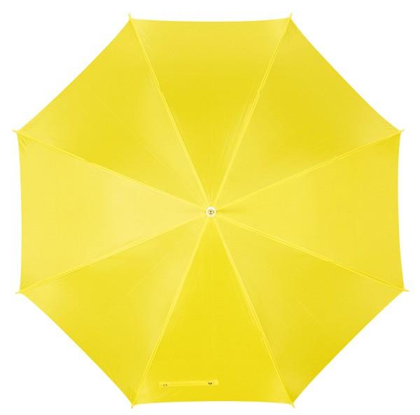 Automatikschirm mit gebogenem Kunststoffgriff gelb