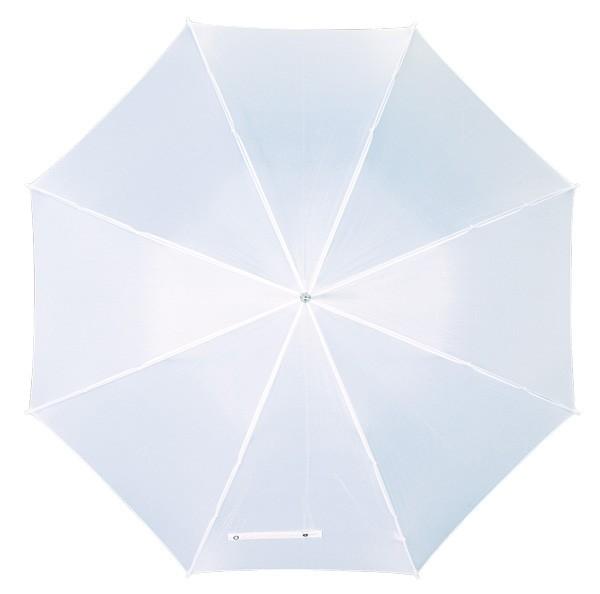 Automatikschirm mit gebogenem Kunststoffgriff weiß