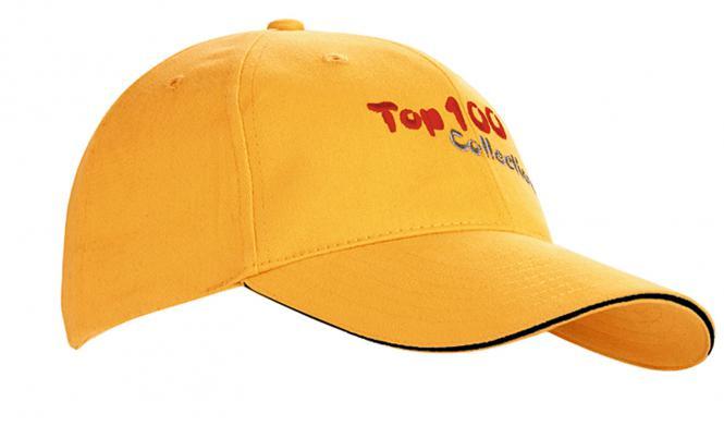 Basecaps mit Bestickung & in 100 Farbvarianten gelb