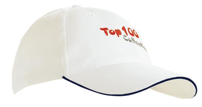 Basecaps mit Bestickung & in 100 Farbvarianten weiß