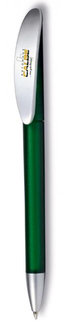 """Kugelschreiber """"Klick"""" grün-gefrostet/silber"""