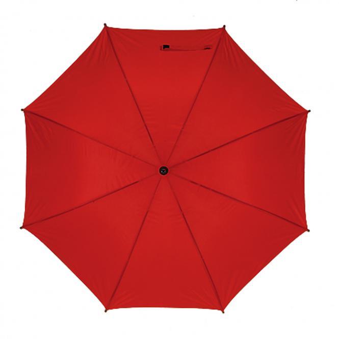 Golfschirm mit Metallstock und Tragefutteral rot