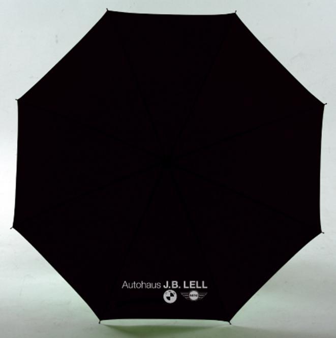 Golfschirm mit Metallstock und Tragefutteral schwarz