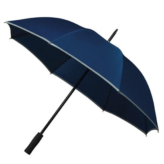 """Golfschirm """"Falcone"""" mit reflektierendem Rand dunkelblau"""