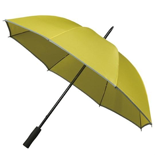 """Golfschirm """"Falcone"""" mit reflektierendem Rand gelb"""