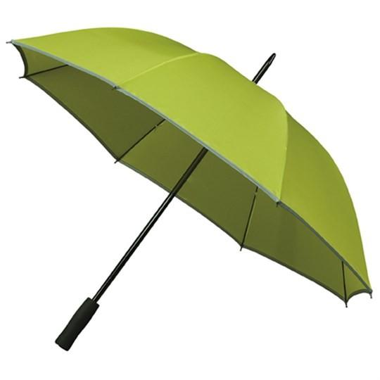 """Golfschirm """"Falcone"""" mit reflektierendem Rand grün (Limette)"""