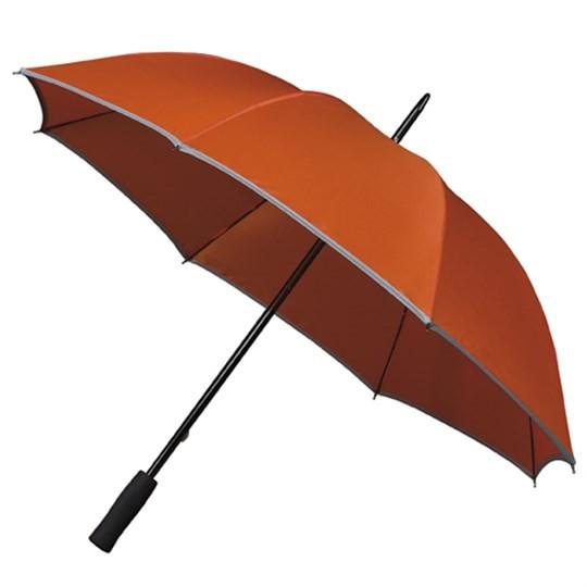 """Golfschirm """"Falcone"""" mit reflektierendem Rand orange"""