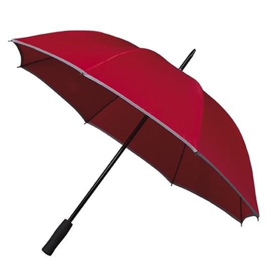 """Golfschirm """"Falcone"""" mit reflektierendem Rand rot"""