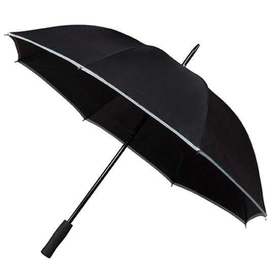 """Golfschirm """"Falcone"""" mit reflektierendem Rand schwarz"""