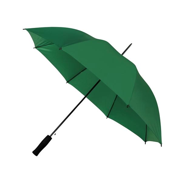 Preiswertester Automatik Schirm mit Glasfiberschienen und griffigem Schaumstoffgriff dunkelgrün