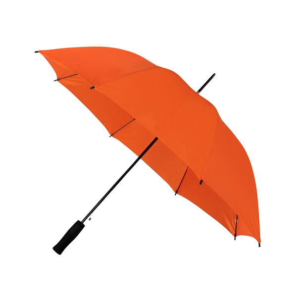 Preiswertester Automatik Schirm mit Glasfiberschienen und griffigem Schaumstoffgriff orange