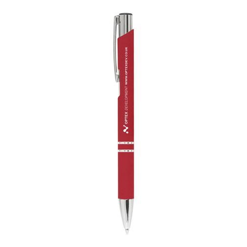"""Kugelschreiber """"Crosby"""" mit gummierter Oberfläche rot"""