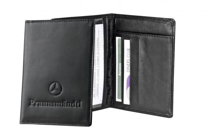 Führerscheintasche aus Kalbs-Leder mit 4 Scheckkartenfächern
