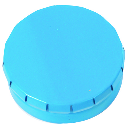 Mini Klick-Klack Dose hellblau