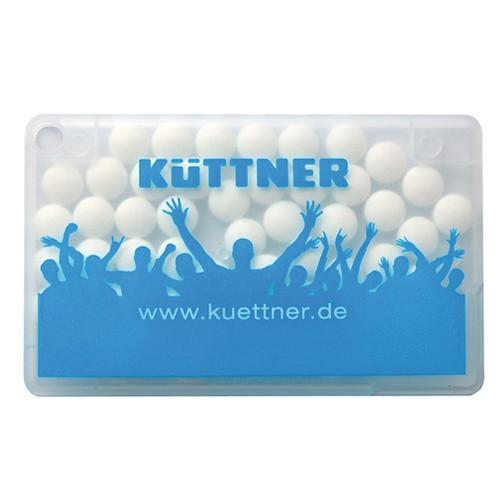 Mintcard Visitenkartenform weiß-transparent