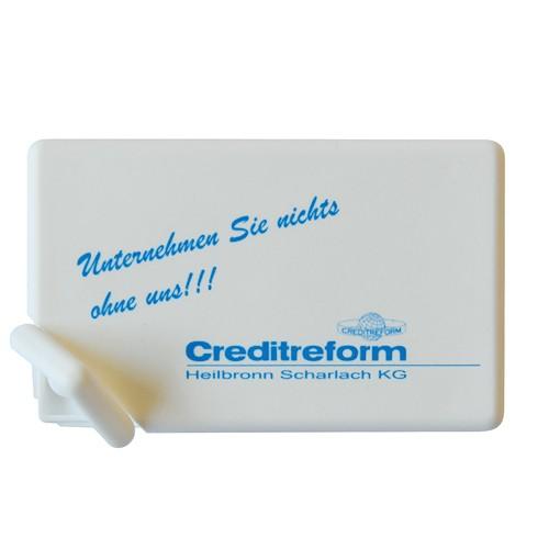 Mintcard Visitenkartenform weiß-vollfarbig