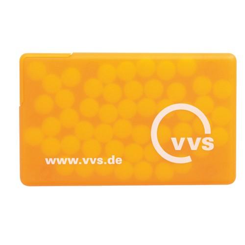 Mintcard Visitenkartenform orange-transparent