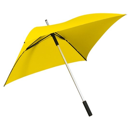 "Quadratischer Regenschirm ""All Square"" gelb"