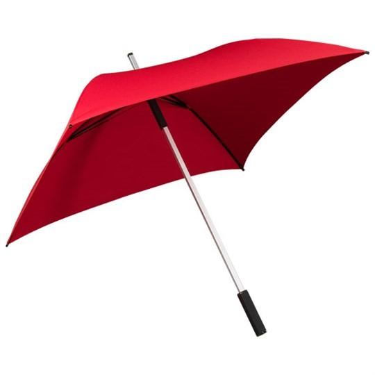 "Quadratischer Regenschirm ""All Square"" rot"
