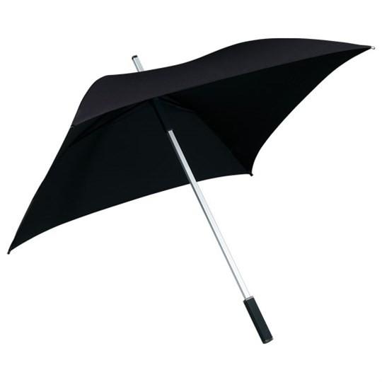 """Quadratischer Regenschirm """"All Square"""" schwarz"""