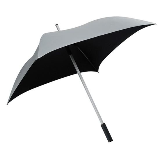 "Quadratischer Regenschirm ""All Square"" silber-grau"