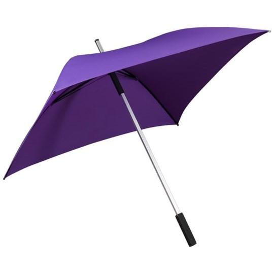 "Quadratischer Regenschirm ""All Square"" violett"