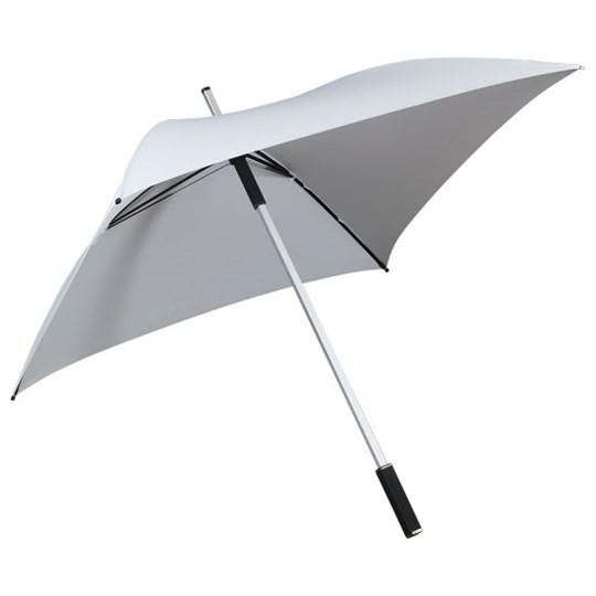 "Quadratischer Regenschirm ""All Square"" weiß"