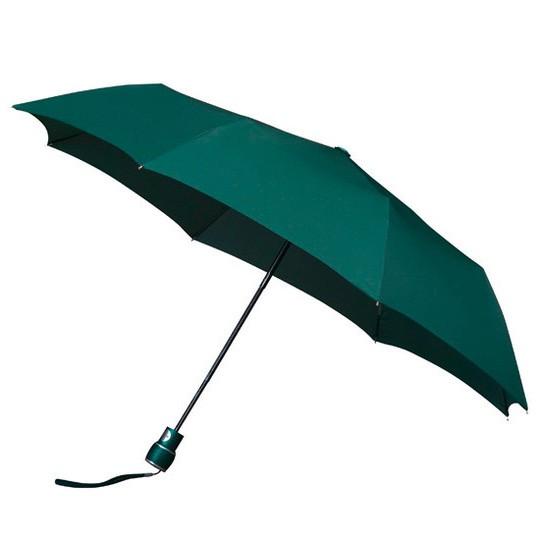 Wertiger & windsicherer Taschenschirm mit Glasfiberschienen dunkelgrün