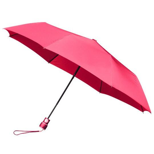 Wertiger & windsicherer Taschenschirm mit Glasfiberschienen pink