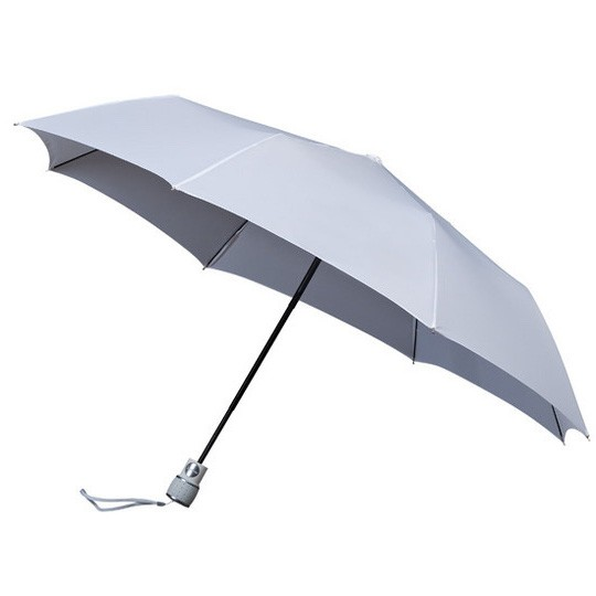 Wertiger & windsicherer Taschenschirm mit Glasfiberschienen weiß