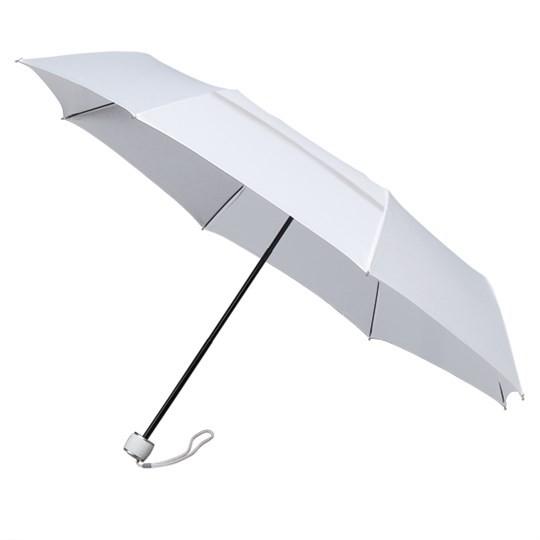 """Windsicherer Taschenschirm miniMAX """"ECO"""" mit Ökotuch & Windöffnung in Bespannung weiß"""